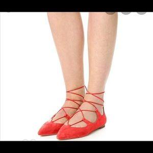 Loeffler Randall Flat Ambra Red Size 9.5 NEW